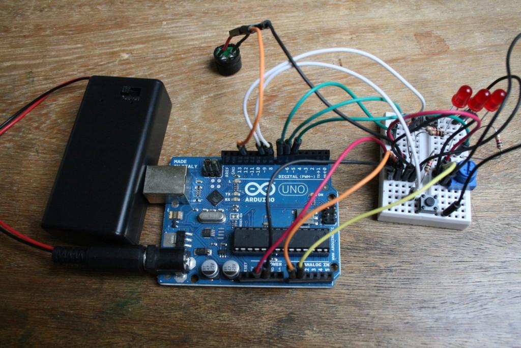 Batterie, Arduino et montage