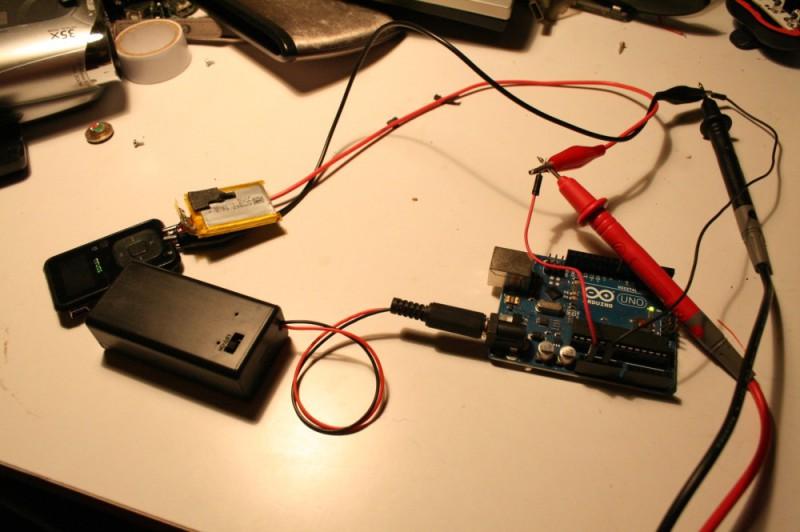 Chargement batterie Sansa Clip avec une Arduino