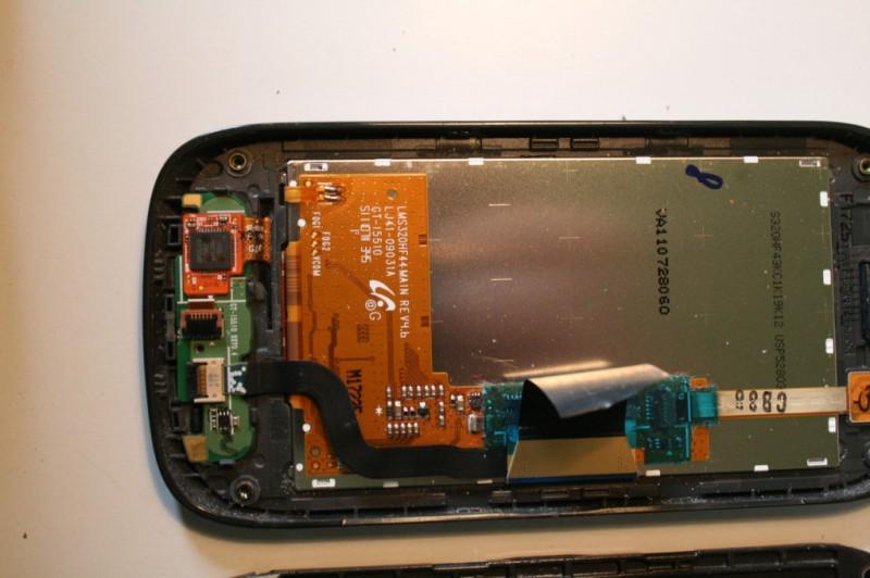 Galaxy 551 arrière de l'écran et circuit de bouttons