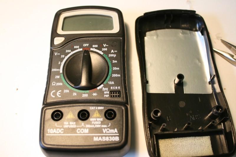 D montage d un multim tre mas830b macrostuff for Fonction d un multimetre