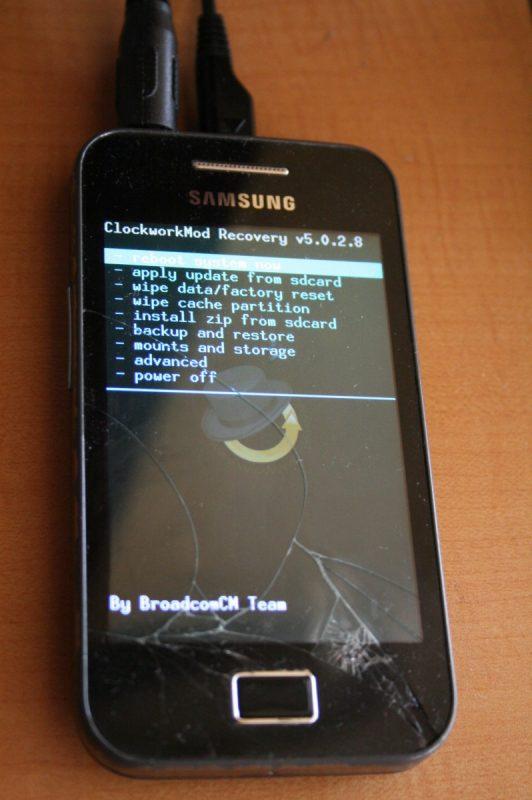 ClockworkMod Recovery v5.0.2.8