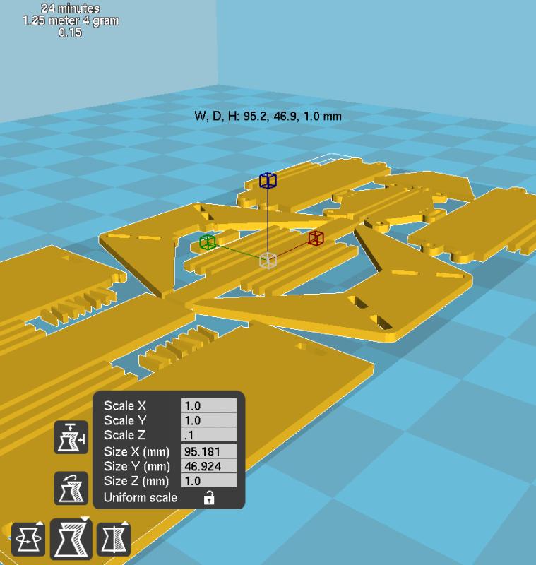 Modèle 3D STL ouvert dans Cura